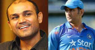 virender sehwag with dhoni